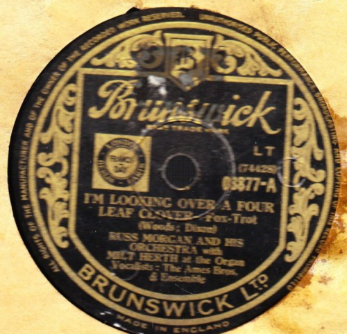 Russ Morgan - I'm looking ove four leaf - Brunswick 03877